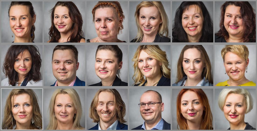 business portrait wall